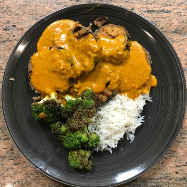 eggplant katsu curry
