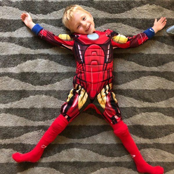 boy in ironman costume