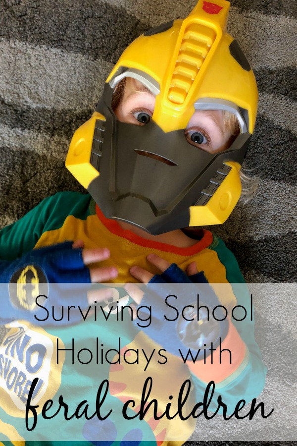Surviving School Holidays with Feral Children.  Imperfect parenting - you are not alone