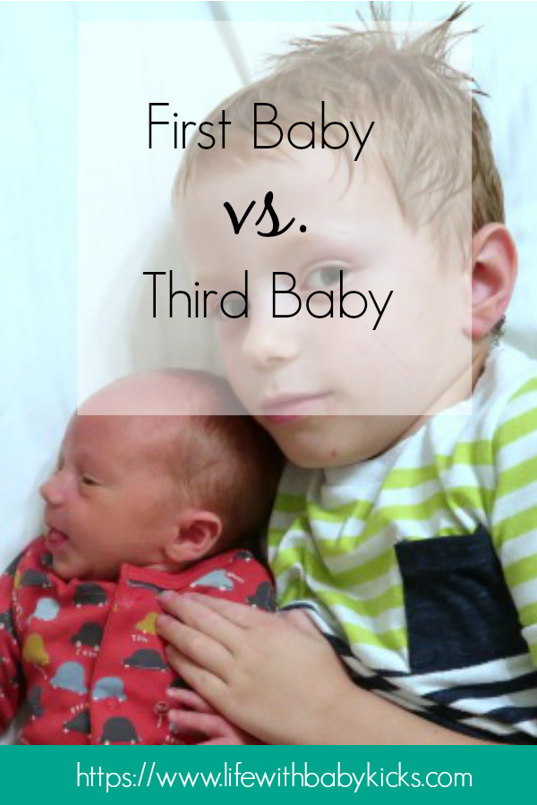 First Baby vs. Last Baby - Life with Baby Kicks  What is the difference between your first baby and your last?!  Parenting styles evolve over time and all of a sudden you're parenting your last child quite differently to your first!