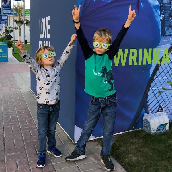 two boys at qatar exxonmobil open tennis 2020