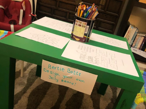 Workstation set up for Harry Potter day design your own jellybean