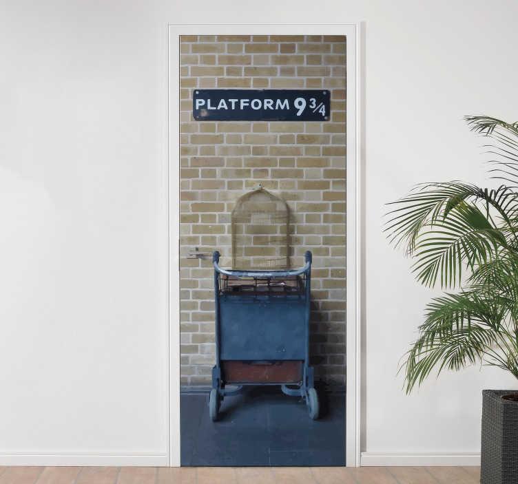 Platform 9 3/4 wall sticker