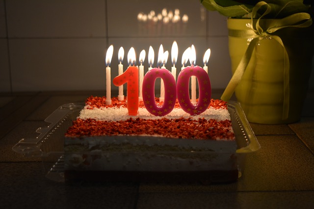 100th birthday cake